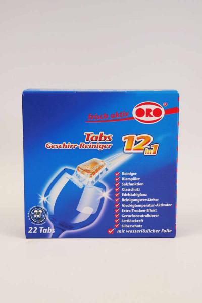 ORO Geschirr-Reiniger Tabs frisch-aktiv 12in1 (05029)